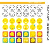 set of emoticons with twelve... | Shutterstock .eps vector #629902487