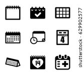 appointment icons set. set of 9 ... | Shutterstock .eps vector #629902577