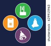 jingle icons set. set of 4... | Shutterstock .eps vector #629915963