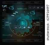 futuristic virtual graphic... | Shutterstock .eps vector #629916497