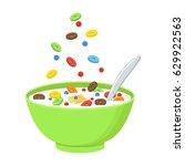 vector illustration. cereal... | Shutterstock .eps vector #629922563