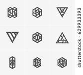 modern simple shape  abstract... | Shutterstock .eps vector #629933393