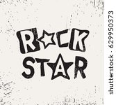 rock star grunge text | Shutterstock .eps vector #629950373