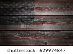 usa flag on old wood | Shutterstock . vector #629974847