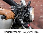 close up of a hipster biker man ... | Shutterstock . vector #629991803