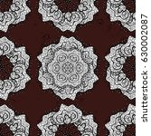 floral doodle. seamless pattern ...   Shutterstock .eps vector #630002087