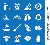 set of 16 nature filled icons... | Shutterstock .eps vector #630002993