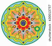 mandala vector illustration....   Shutterstock .eps vector #630013757