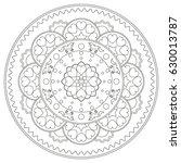 unicorn mandala vector...   Shutterstock .eps vector #630013787