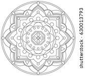 mandala vector illustration....   Shutterstock .eps vector #630013793