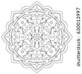 unicorn mandala vector...   Shutterstock .eps vector #630013997
