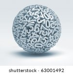 Sphere Made Of Numbers   3d...