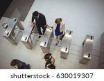 top view of business executives ... | Shutterstock . vector #630019307