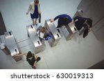 top view of business executives ...   Shutterstock . vector #630019313