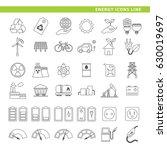 set of energy icons in line... | Shutterstock .eps vector #630019697