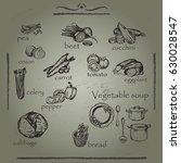 vector illustration. sketched... | Shutterstock .eps vector #630028547