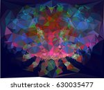 abstract multicolor mosaic...   Shutterstock .eps vector #630035477