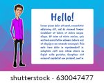 banner with business people.... | Shutterstock .eps vector #630047477