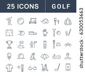 set line icons with open path... | Shutterstock . vector #630053663