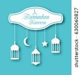 arabic simple card for ramadan...   Shutterstock . vector #630060827