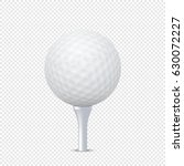 vector white realistic golf... | Shutterstock .eps vector #630072227