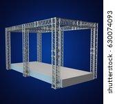 steel truss girder rooftop... | Shutterstock . vector #630074093