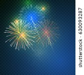 brightly colorful fireworks on... | Shutterstock .eps vector #630093287