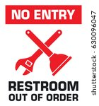 notification sign. no entry.... | Shutterstock .eps vector #630096047