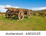 Old Wagon Next A Farm In...