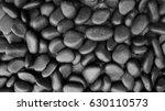 Texture Black Pebble Stones