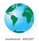 globe showing the americas | Shutterstock . vector #6301207
