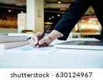business woman working with new ... | Shutterstock . vector #630124967