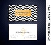 business cards. vintage...   Shutterstock .eps vector #630134987