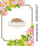 romantic invitation. wedding ... | Shutterstock .eps vector #630135617