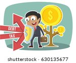 african businessman protecting... | Shutterstock .eps vector #630135677