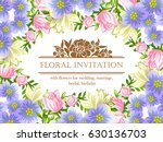 romantic invitation. wedding ... | Shutterstock .eps vector #630136703