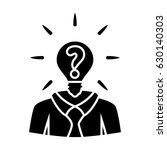 quiz man icon | Shutterstock .eps vector #630140303