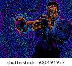 jazz trumpet player. vector...   Shutterstock .eps vector #630191957