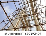 oxidation rusty scaffolding and ... | Shutterstock . vector #630192407