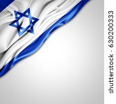 israel flag of silk with... | Shutterstock . vector #630200333