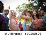 portrait of friends dancing at... | Shutterstock . vector #630200603