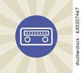 radio icon. sign design....