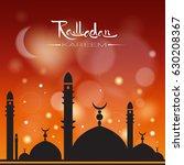 ramadan kareem muslim religion... | Shutterstock .eps vector #630208367