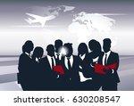 business team silhouette... | Shutterstock .eps vector #630208547