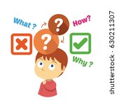 young children thinking about... | Shutterstock .eps vector #630211307