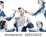 illustration of young... | Shutterstock . vector #630214223