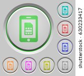 mobile simcard color icons on... | Shutterstock .eps vector #630233417