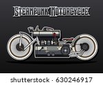 vector steampunk motorcycle | Shutterstock .eps vector #630246917