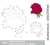 red rose head. dot to dot... | Shutterstock .eps vector #630255563