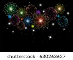vector fireworks background... | Shutterstock .eps vector #630263627